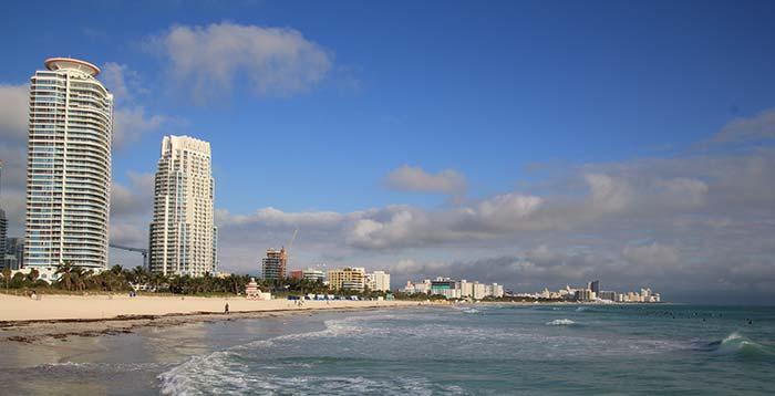 Miami Beach, strand och hav